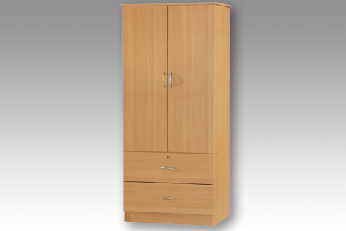 Beech 2 Door Wardrobe with 2 Drawers