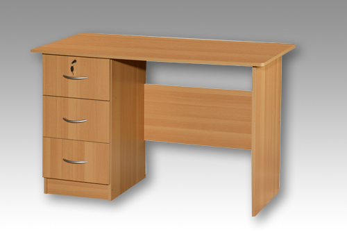 Beech 3 Drawer Desk
