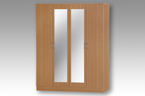 Beech 4 Door Wardrobe