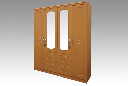 Diane Beech -  4 Door, 4 Drawers Mirror Robe