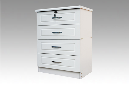 Diana White 4 Drawer Bedside