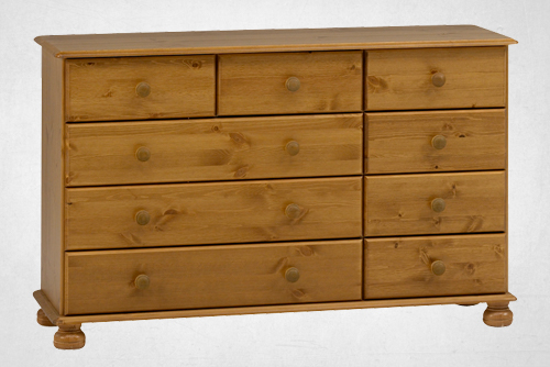 Pine 2+4+3 drawer chest