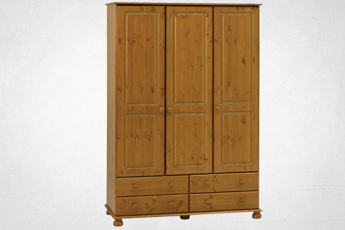 Pine 2 door, 3 drawer robe
