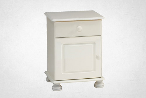 Forest White - 1 Drawer 1 Door Bedside