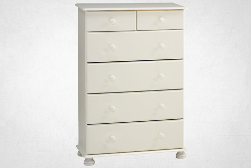 white 2+4 deep drawer chest