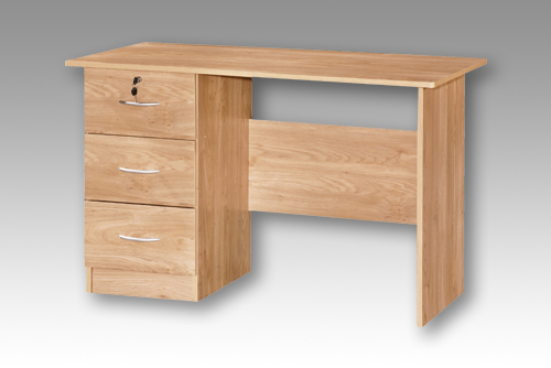 Oak 3 Drawer Desk