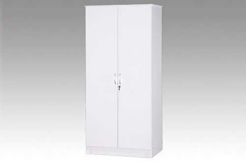 White 2 Door Wardrobe