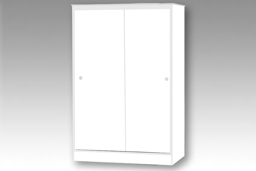 White 2 Door Sliding Wardrobe